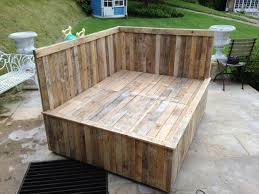 diy outdoor pallet sectional. Reclaimed Pallet Bed Frame Diy Outdoor Sectional