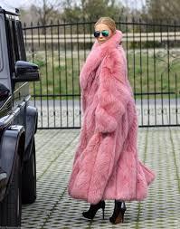 fox furs new saga fox long fur coat