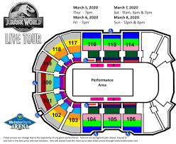 Bridgeport Webster Arena Seating Chart Jurassic World Live Tour Webster Bank Arena