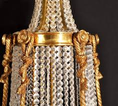 french empire style two tier eighteen light ballroom chandelier in excellent condition for