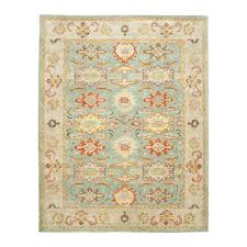 safavieh heritage light blue and ivory area rug