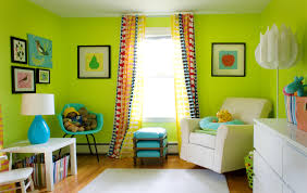 lime green living room design with fresh colors home decoration ...