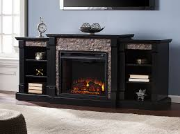 gallatin black electric fireplace entertainment center fe8525 southern enterprises