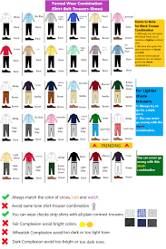 Mens Dress Clothes Matching Chart Toffee Art