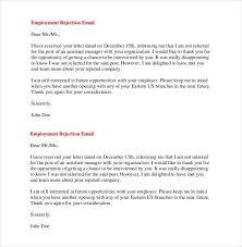 reject letter template employer rejection letter sample professional letter formats