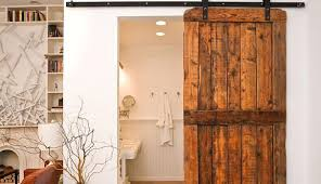 sliding barn doors for bathroom that bring rustic beauty ...