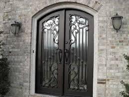 metal front doors with glass for homes