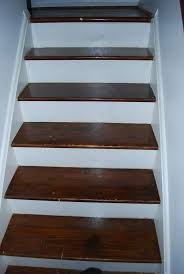 picture of refinishing an hardwood staircase