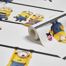 Minion Bedroom Wallpaper Minion Made Wallpaper Departments Diy At Bq