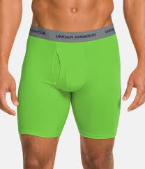 under armour 9 boxerjock. gecko green, zoomed image under armour 9 boxerjock r