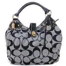 Coach In Signature Medium Grey Satchels AZL