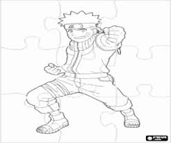 Kleurplaat Puzzel Met De Ninja Naruto Kleurplaten