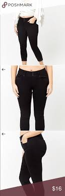 Forever 21 Waist Size Chart Nwot Forever 21 Black Skinny Ankle Jeans Check Size Chart