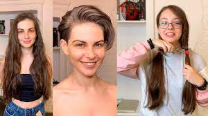 Such a shame i don't look good with short hair. Gorgeous Hair Makeover Long To Short Transformations Pixie Bob Haircut Tutorial Youtube