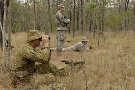 army recon scout maryland guard australians share laughs recon tips during talisman