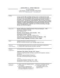 Formats Of A Resume Type A Resume Perfect Types Of Resume Formats