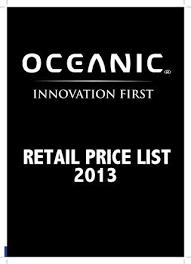 Oceanic Vortex V 16 Size Chart Oceanic Retail Catalog 2013 By Richard Howes Issuu