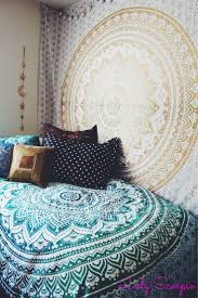 Tapestry Bedroom Indian Round Floral Mandala Hippie Dorm Room Tapestry Wall Hanging