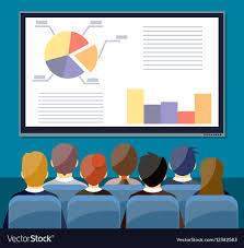 Chart Screen Large Tv Screen With Chart Pie Do Presentation T