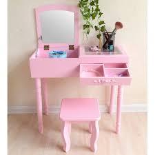 minimalist dressing table makeup organizer bedroom dresser vanity foldable mirror desk with stool