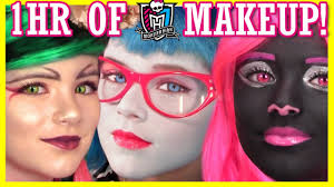 1 hour of monster high doll makeup tutorials costume or cosplay kittiesmama you