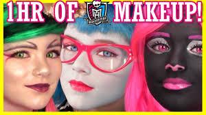 1 hour of monster high doll makeup tutorials costume halloween or cosplay kittiesmama you