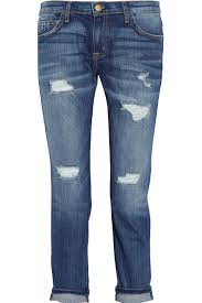 Where Can I Buy Designer Jeans For Cheap The Fling Cropped Distressed Slim Leg Jeans Low Rise