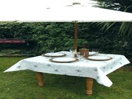 round tablecloth with umbrella hole table cloth amazing of outdoor fitted fit
