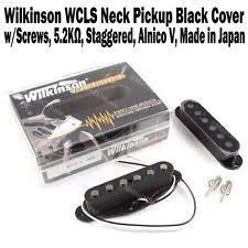 wilkinson guitar pickups wilkinson wcls neck pickup black single coil staggered strat alnico v new