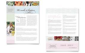 Wedding & Event Planning Datasheet Template Design