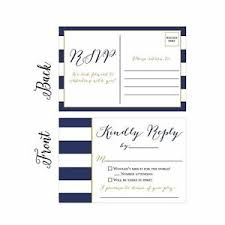 Response Cards Size Details About 50 Navy Rsvp Cards Rsvp Postcards No Envelopes Needed Response Card Blank