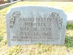 "Nancy ""Nannie"" Dudley Heritage (1879-1962) - Find A Grave Memorial"