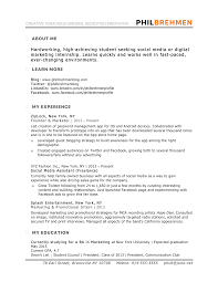 Resume About Me Examples Resume Examples For Students Show Me A