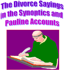 sermons and essays divorce sayings in the synoptics and pauline  sermons and essays divorce sayings in the synoptics and pauline accounts