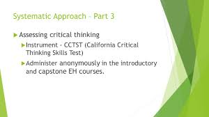Critical Thinking  by Dr  Shadia Yousef Banjar pptx Rainier Store Rainier Store California critical thinking skills test free