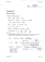 balancing chemical equations inspirational worksheet 2 answer