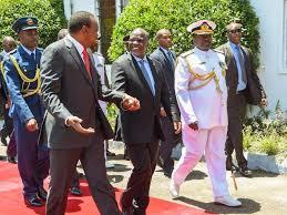 Kenyan Cabinet Secretaries Tanzanian President John Magufuli Visits Kenya