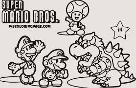 31 Super Super Mario Ausmalbilder Ausdrucken Blupebble Inside