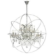 orb crystal chandelier modern vintage iron crystal chandelier gallery rococo c 6 light black wrought and benita antique
