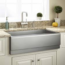 33 executive zero radius stainless steel farmhouse sink beveled front
