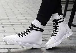送料無料 スニーカー ハイカット サイドジップ 大きいサイズ メンズ キャンバス 黒 シューズ 白 春夏 靴