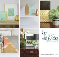 Diy Artwork For Walls 5 Easy Diy Wall Art Hacks Using Tape Home Made By Carmona