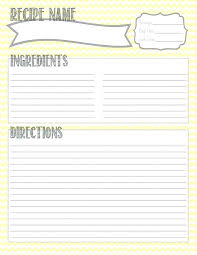 Full Page Recipe Templates Full Page Recipe Card Template Word Full Page Recipe Card