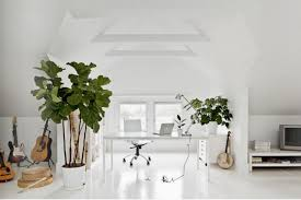 white airy home office. such a pretty workspace white airy home office