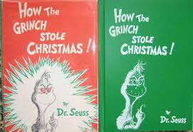 how the grinch stole christmas book cover. Exellent Christmas Dr Seuss First Edition In How The Grinch Stole Christmas Book Cover