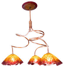 blown glass chandelier art glass lighting chandelier lighting copper