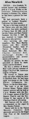 Obituary for Alva Newkirk (Aged 74) - Newspapers.com
