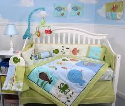 crib bedding set fish ocean life theme uni infant baby nursery 13