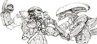 Small Picture Alien vs predator coloring pages