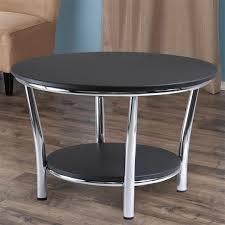 shelf round coffee table